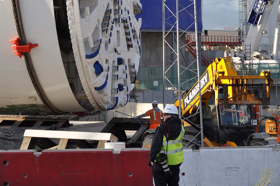 Image of Tunnel boring machine at Lee Tunnel