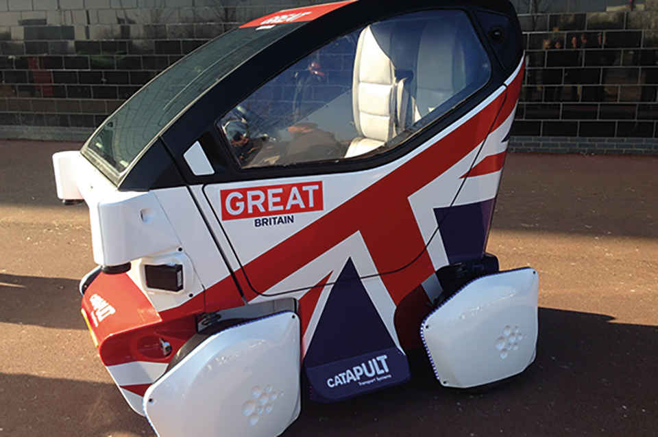 Image of electric car with British flag design