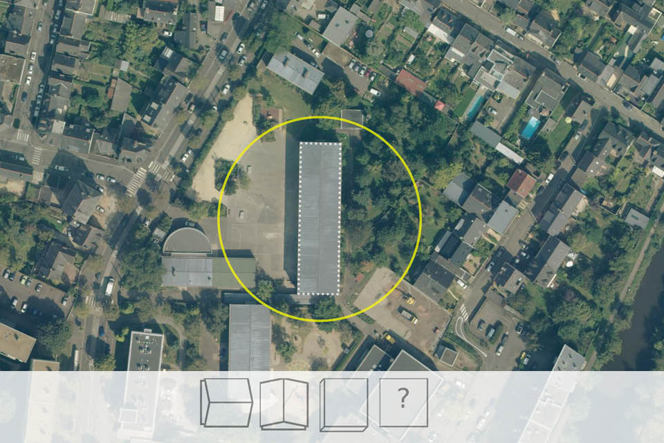 Satellite image of roof tops