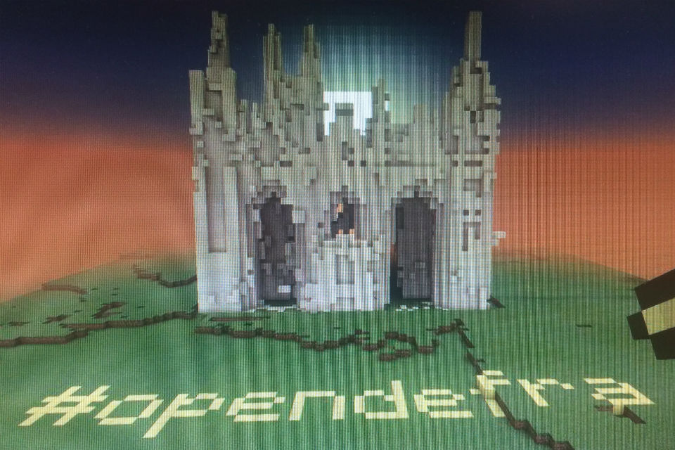 Minecraft image of cathedral