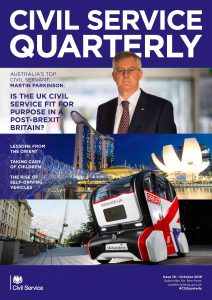 Front cover of Civil Service Quarterly 18