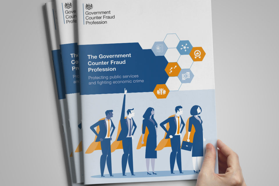 Front cover of the Government Counter Fraud Profession leaflet