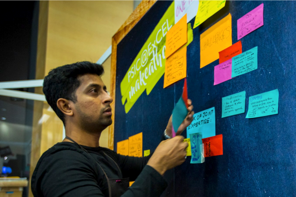 Singapore public service officer taking part in an innovation makeathon