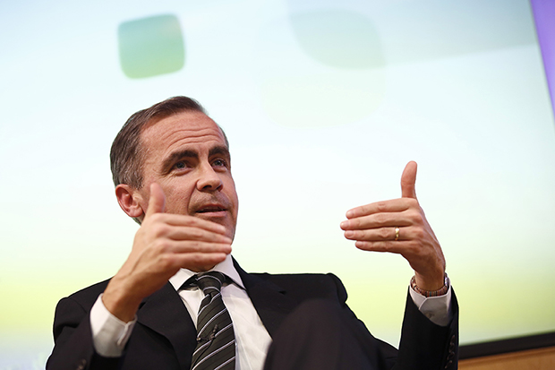 Mark Carney, Governor of the Bank of England, speaking at a news conference at the Cass Business School in London, March 2014.