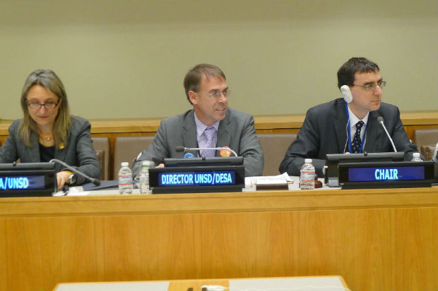 John Pullinger chairing the UN Statistical Commission