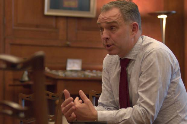 Sir Mark Sedwill, Cabinet Secretary and Head of the Civil Service, speaking during the interview