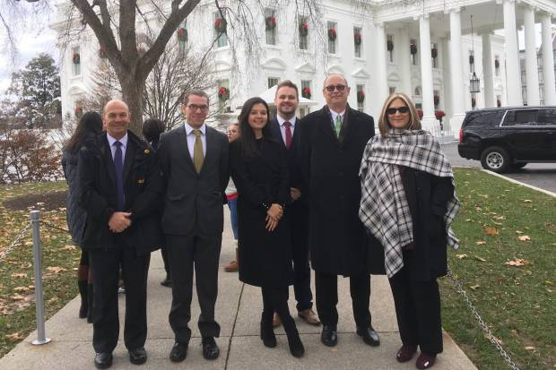 The CoEx team at the White House in Washington, DC