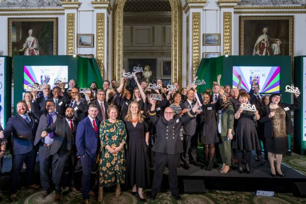 Some of the 2019 Civil Service Awards winners celebrating their success